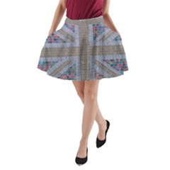 Multicoloured Union Jack A-Line Pocket Skirt