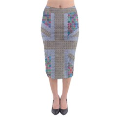 Multicoloured Union Jack Midi Pencil Skirt
