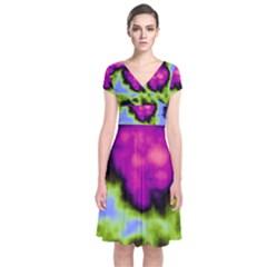 Insane Color Wrap Dress