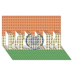 Indian Flag MOM 3D Greeting Card (8x4)