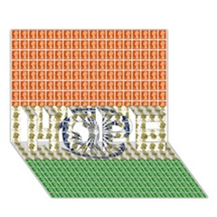 Indian Flag HOPE 3D Greeting Card (7x5)
