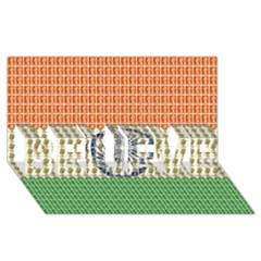 Indian Flag BELIEVE 3D Greeting Card (8x4)
