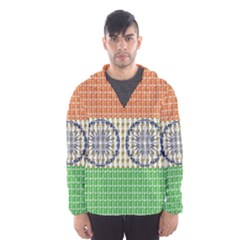Indian Flag Hooded Wind Breaker (Men)