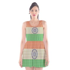Indian Flag Scoop Neck Skater Dress