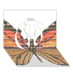 Butterfly Peace Sign 3d Greeting Card (7x5)