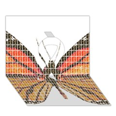 Butterfly Ribbon 3d Greeting Card (7x5)