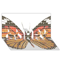 Butterfly SORRY 3D Greeting Card (8x4)