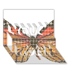 Butterfly You Rock 3D Greeting Card (7x5)