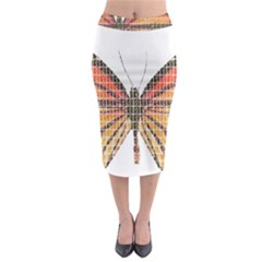 Butterfly Midi Pencil Skirt