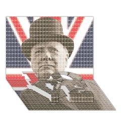 Churchill 1 LOVE Bottom 3D Greeting Card (7x5)