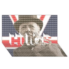 Churchill 1 HUGS 3D Greeting Card (8x4)