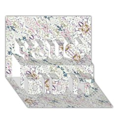 Oriental Floral Ornate You Did It 3D Greeting Card (7x5)