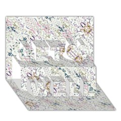 Oriental Floral Ornate Get Well 3d Greeting Card (7x5)