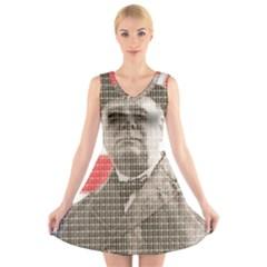 Churchill 1 V-Neck Sleeveless Skater Dress