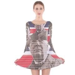 Churchill 1 Long Sleeve Velvet Skater Dress