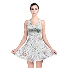 Oriental Floral Ornate Reversible Skater Dress