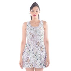Oriental Floral Ornate Scoop Neck Skater Dress