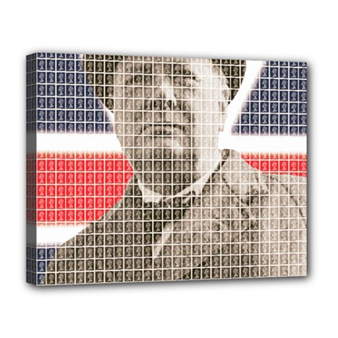 Winston Churchill Canvas 14  x 11