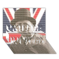 Winston Churchill YOU ARE INVITED 3D Greeting Card (7x5)