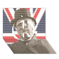 Winston Churchill Peace Sign 3D Greeting Card (7x5)