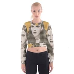Over The Rainbow - Yellow Women s Cropped Sweatshirt