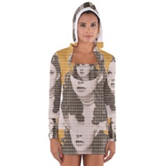Over The Rainbow - Yellow Women s Long Sleeve Hooded T-shirt