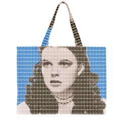 Over The Rainbow - Blue Large Tote Bag
