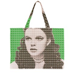 Over the rainbow - Green Large Tote Bag
