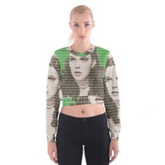 Over the rainbow - Green Women s Cropped Sweatshirt