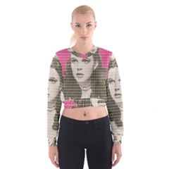 Over the Rainbow - Pink Women s Cropped Sweatshirt