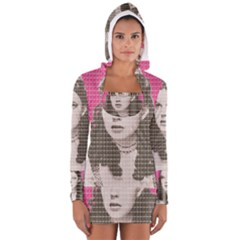 Over the Rainbow - Pink Women s Long Sleeve Hooded T-shirt