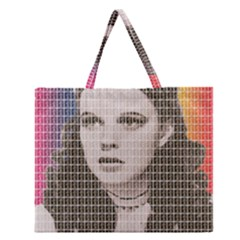 Over the Rainbow Zipper Large Tote Bag