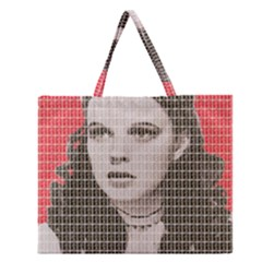 Over the Rainbow - Red Zipper Large Tote Bag