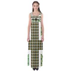 Green Flag Empire Waist Maxi Dress