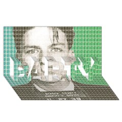 Sinatra Mug Shot PARTY 3D Greeting Card (8x4)