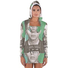 Sinatra Mug Shot Women s Long Sleeve Hooded T-shirt
