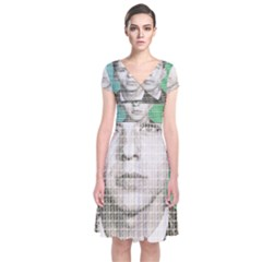 Sinatra Mug Shot Wrap Dress