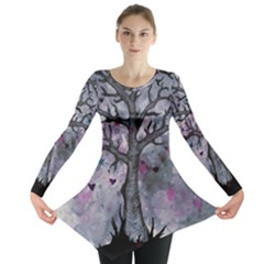 Tree Hearts & Stars Long Sleeve Tunic