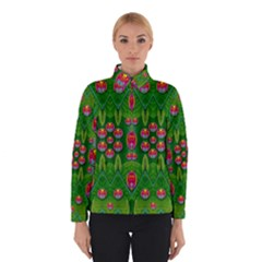 Orchid Forest Filled Of Big Flowers And Chevron Winterwear