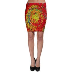 Downtown In Red22 Bodycon Skirt