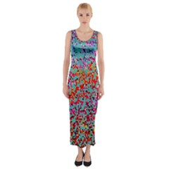 Nyc Sunset Fitted Maxi Dress