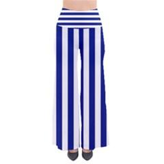 Navy Stripe Pattern Palazzo Pants Women s Chic Palazzo Pants