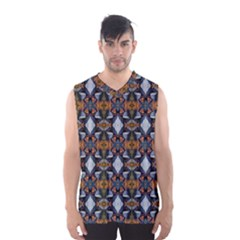 Stones Pattern Men s Basketball Tank Top