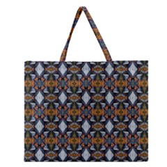 Stones Pattern Zipper Large Tote Bag