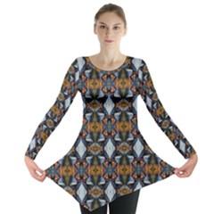 Stones Pattern Long Sleeve Tunic