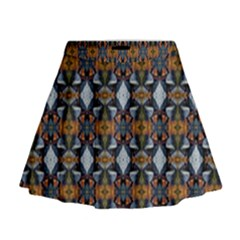 Stones Pattern Mini Flare Skirt