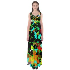 City Night Empire Waist Maxi Dress
