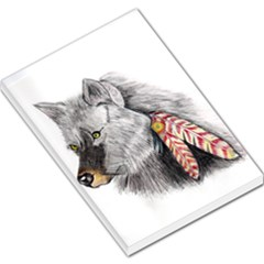 Wolf Feathers  Large Memo Pads