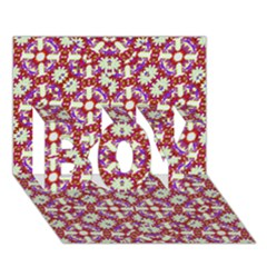 Boho Check BOY 3D Greeting Card (7x5)