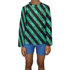 STR3 BK-GR MARBLE (R) Kid s Long Sleeve Swimwear
